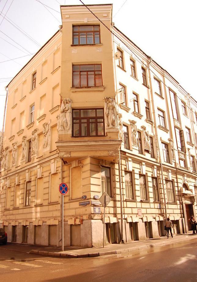 Доходный дом Бройдо на углу Плотникова переулка бордель, дом терпимости, здания, интересное, история, проституция