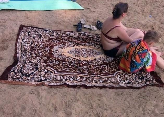 Пляжный коврик дизайн, ковер, красиво, смешно