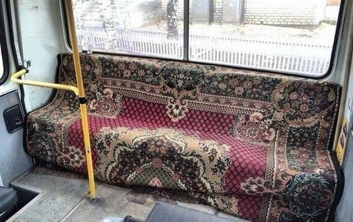 С заботой о пассажире. дизайн, ковер, красиво, смешно