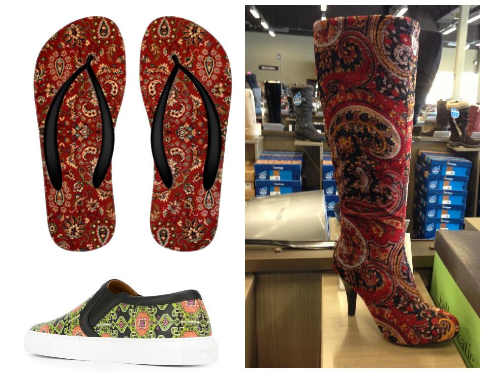 """Обувь с """"ковровым дизайном"""" дизайн, ковер, красиво, смешно"""