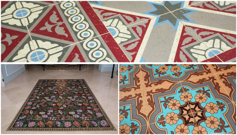 Керамическая плитка с ковровым рисунком дизайн, ковер, красиво, смешно