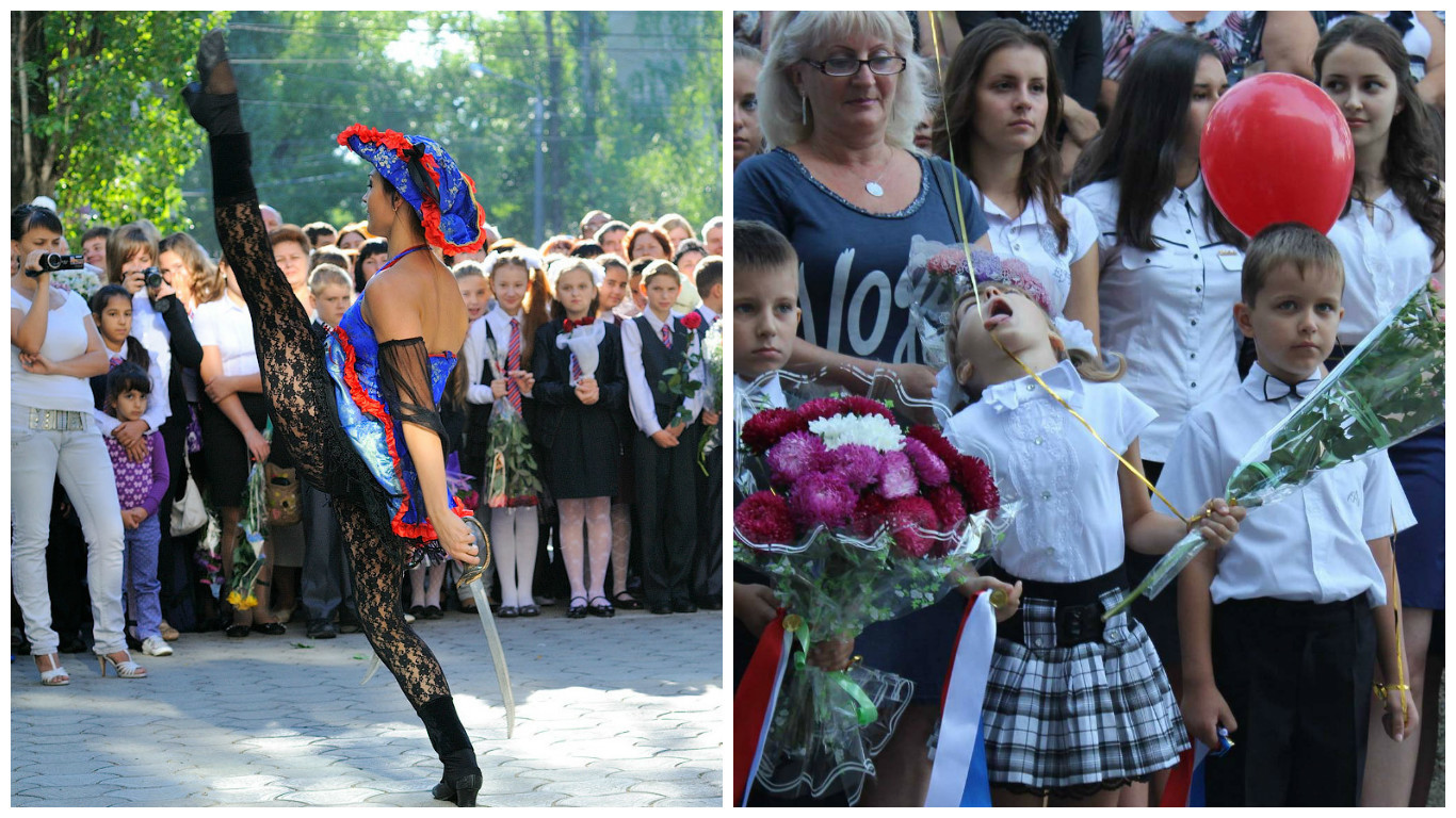 1 сентября в России 1 сентября, первоклашки, прикол, ученики, фото, школа