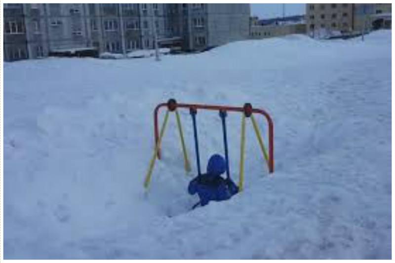 Даже зимние и очень снежные всячина, интересное, качели, падение, подборка, смешно, юмор