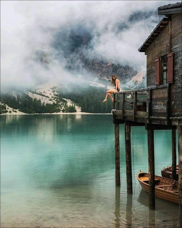 Озеро Брайес, Италия день, животные, кадр, люди, мир, снимок, фото, фотоподборка