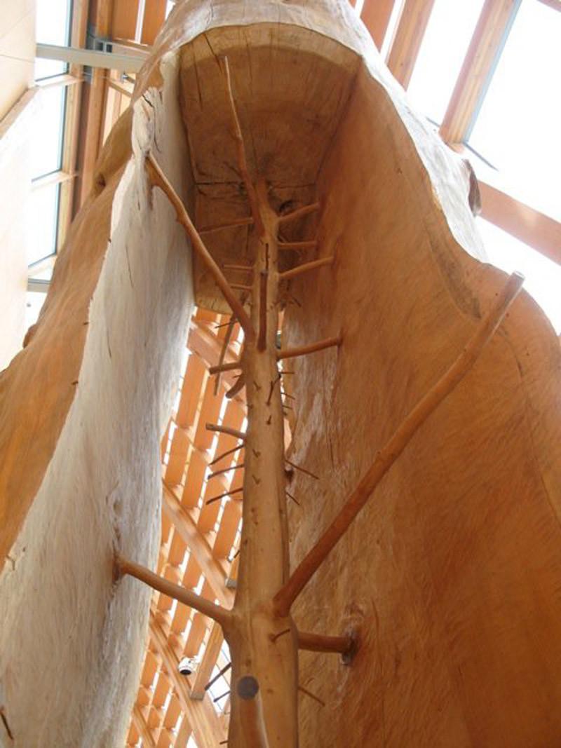 4. Скульптура дерева внутри ствола интересное, интернет, люди, мир, снимок, фото, явление