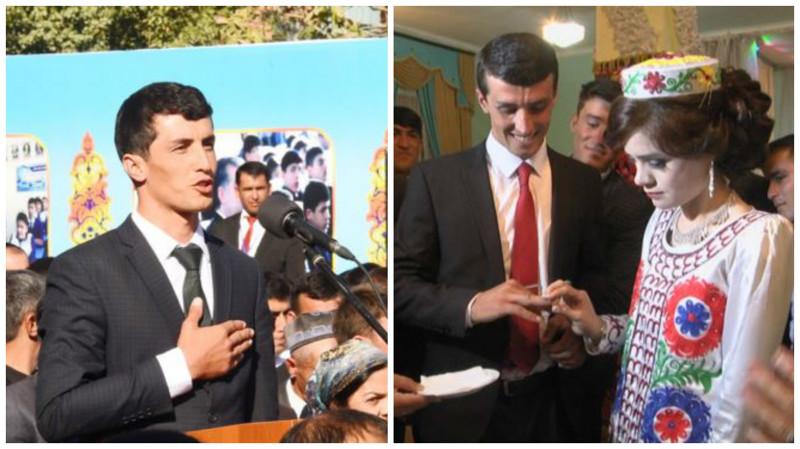 Как президент Таджикистана учителя женил Таджикистан., невеста, подарок, свадьба, часы