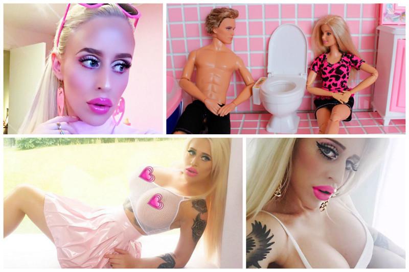 """Теперь же Алисиа хочет полного преображения и сходства с куклой и потому высказала желание, чтобы ей сшили вместе пальцы рук и ее ладошка стала похожей на """"сплошную"""" ладошку Барби дура, красота, кукла барби, пластические операции"""