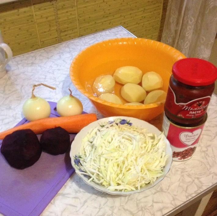 Постный борщ. Около 80 рублей блюда, вкусно, дешево, еда, полезно, рецепты, экономия