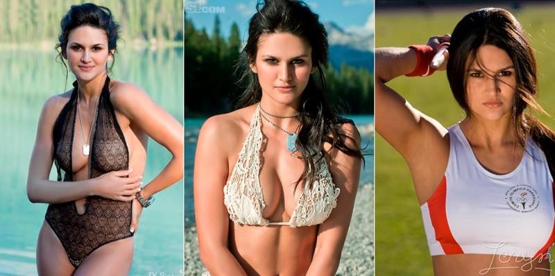 Лерин Франко - метание копья девушки, красавицы, красота, красотки, обаятельные и привлекательные, спорт, спортсменки, фото
