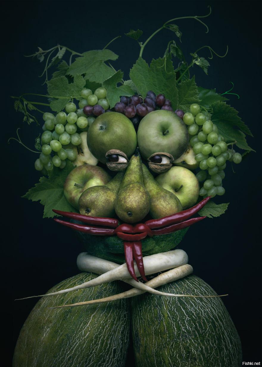 Картинка, прикольные картинки фрукты овощи