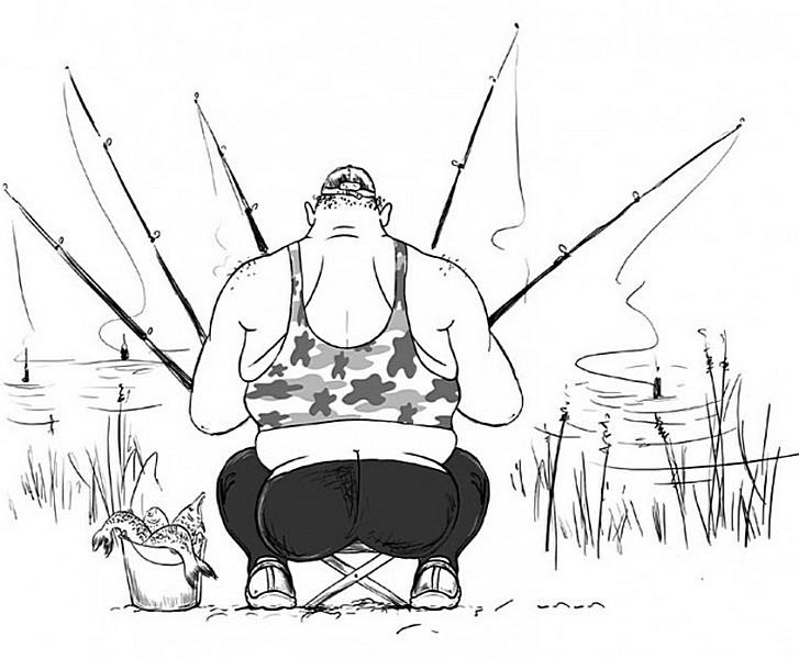 такие прикольные картинки на тему рыбалки поселился здесь своей
