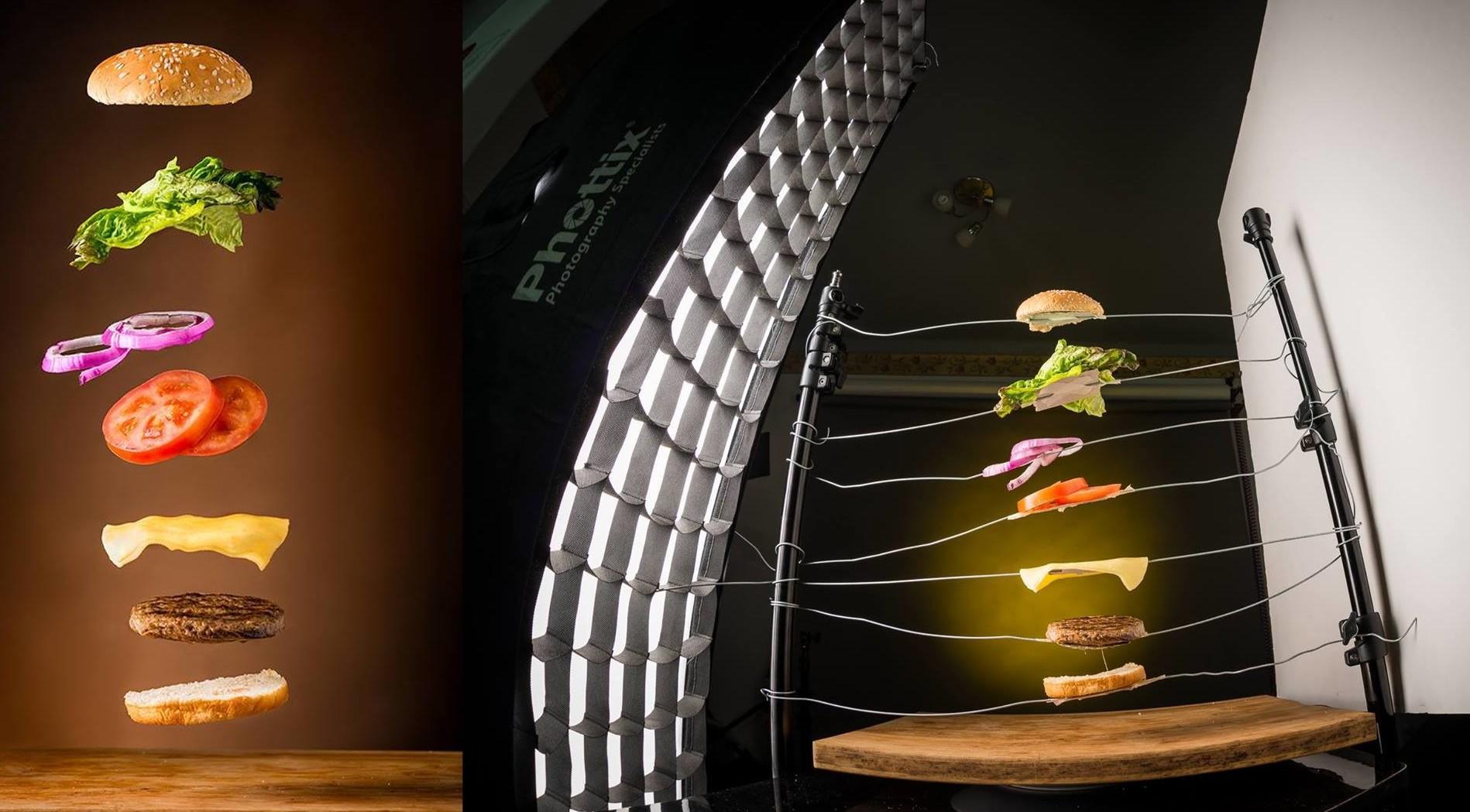 А вот они, эти самые летающие гамбургеры! еда, интересное, маркетинг, реклама, фото