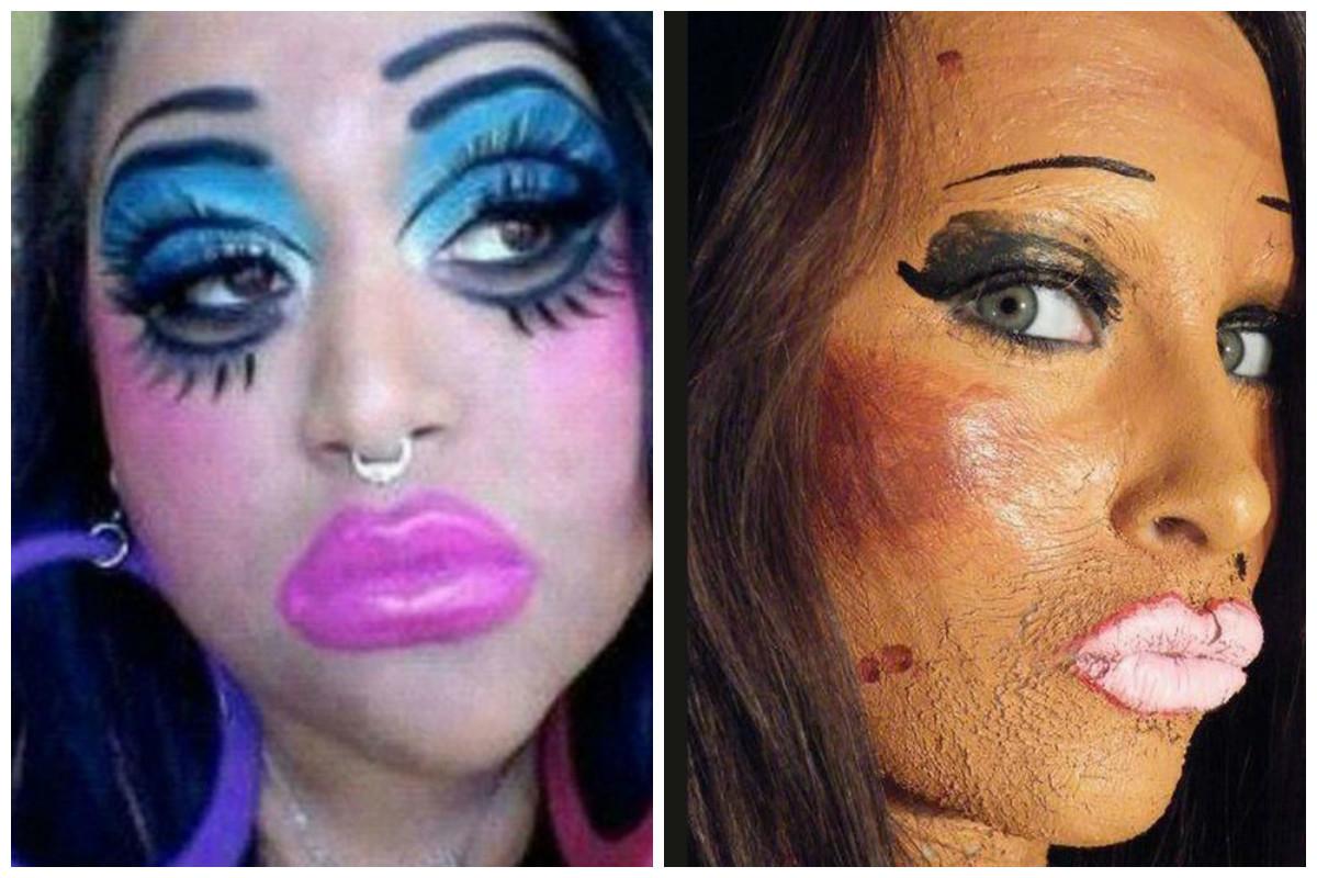 Фото как сделать макияж у шлюхи