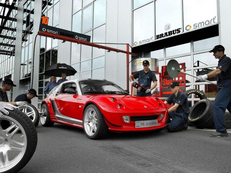 Судьба невероятного Smart Roadster Coupe Brabus V6 BiTurbo