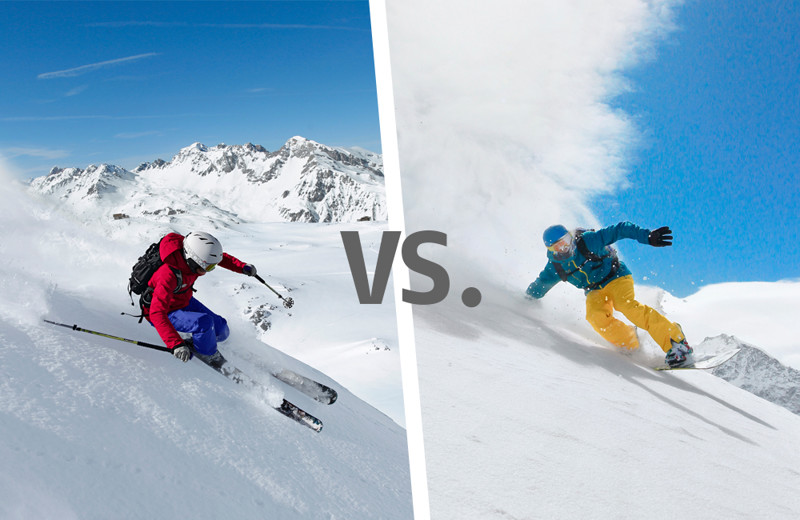 an analysis of the concept of snowboarding versus skiing