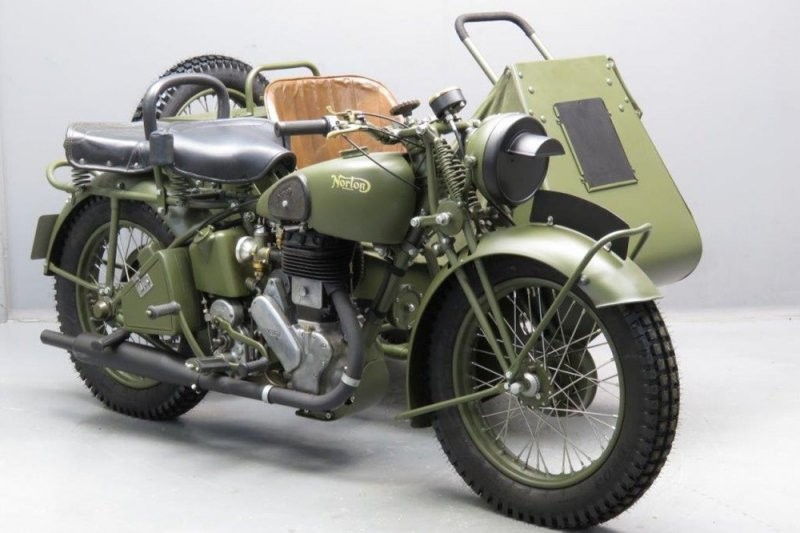 Военный мотоцикл Norton Big Four 1941