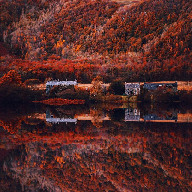 Озерный край краски, листва, лондон, москва, осень, природа, фото, фотограф