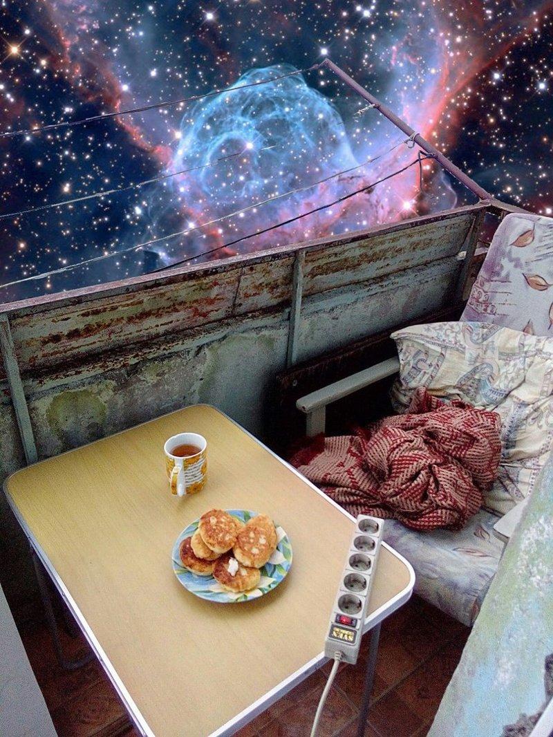 космос в окне фото кулинары