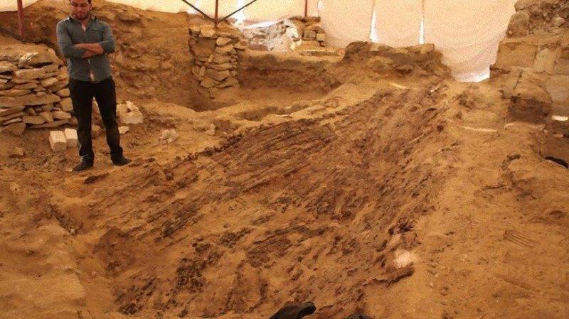5. Погребальная лодка археолог, загадка, интересное, мир, находка, пустыня, тайна