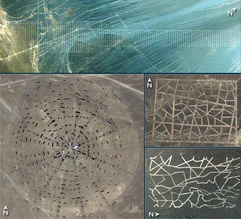 6. Причудливые узоры в пустыне Гоби археолог, загадка, интересное, мир, находка, пустыня, тайна