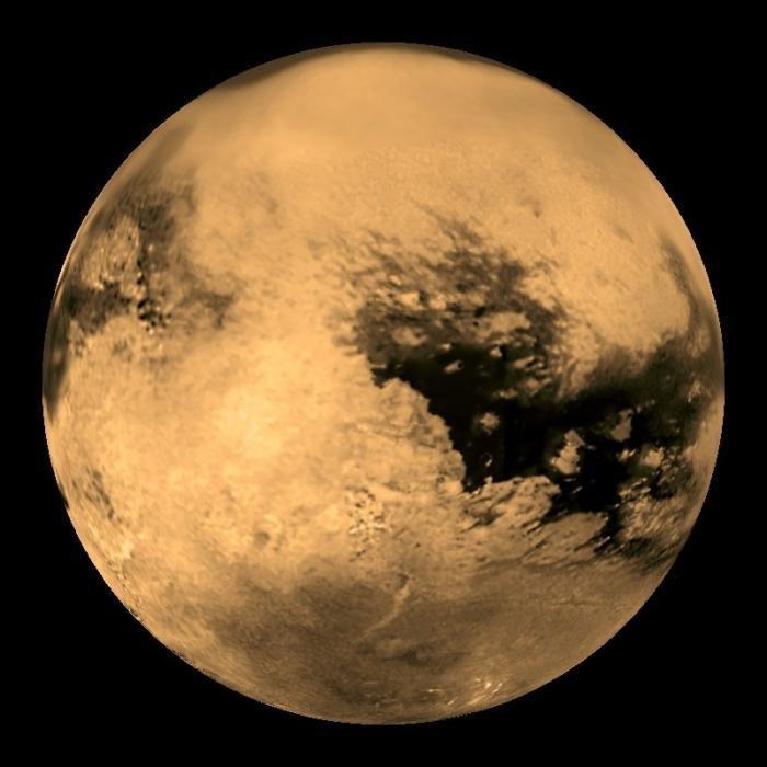 Титан - спутник с плотной атмосферой, второй по величине после Ганимеда спутник Солнечной системы вселенная, загадочно, космос, наука, пугающие звуки
