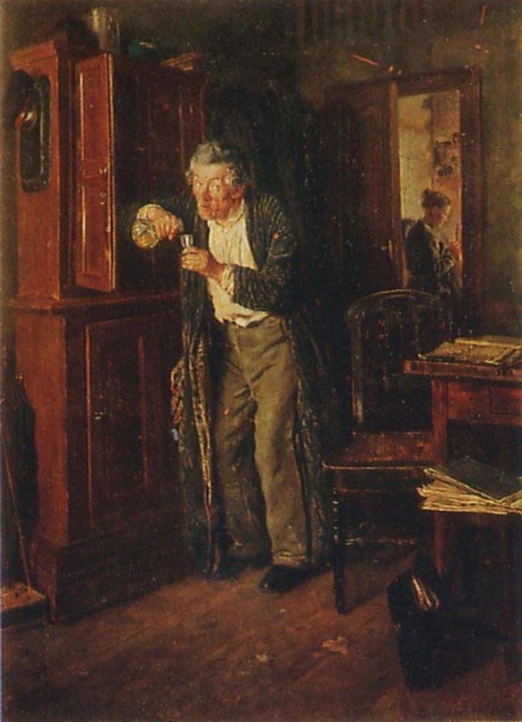 Владимир Маковский — «Тихонько от жены» (1872 год) интересное, искусство, картины