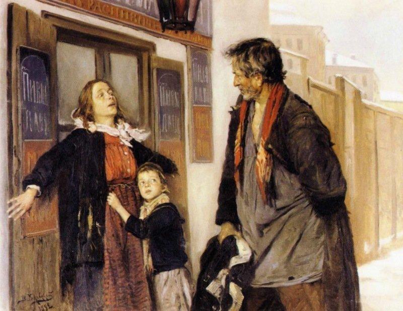 Владимир Маковский — «Не пущу!» (1892 год) интересное, искусство, картины