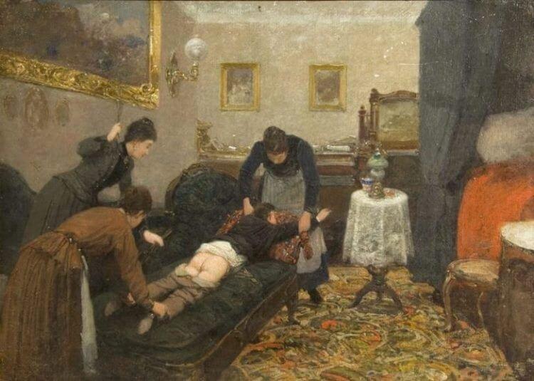 Павел Ковалевский — «Порка» (1880 год)  интересное, искусство, картины