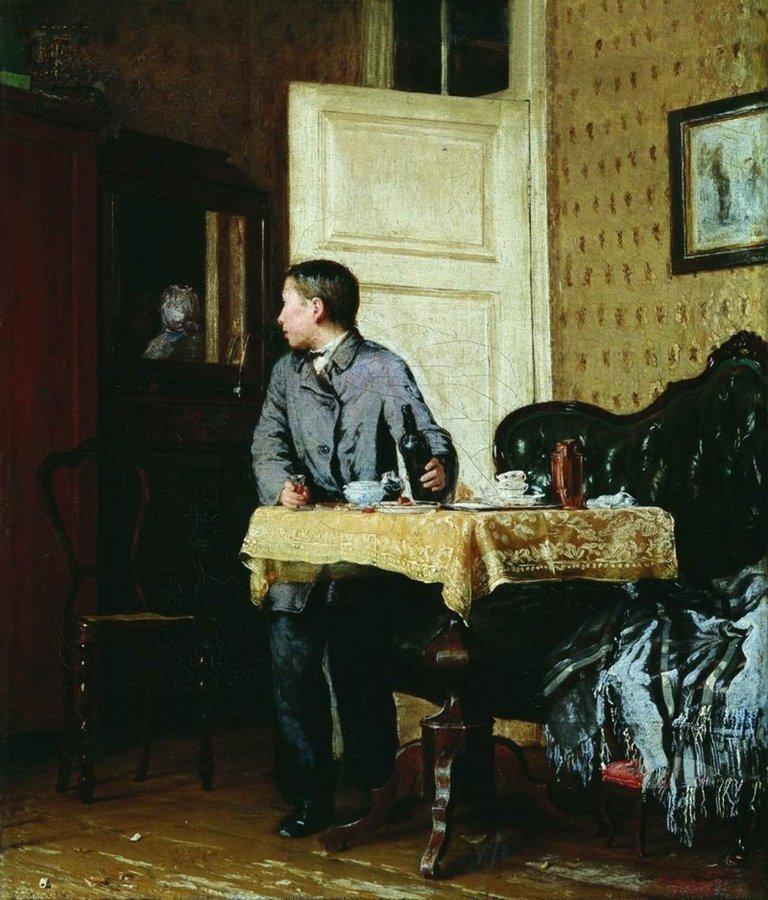 Василий Максимов — «По примеру старших» (1864 год) интересное, искусство, картины