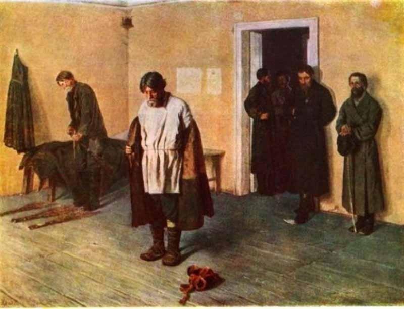 Сергей Коровин — «Перед наказанием» (1884 год)  интересное, искусство, картины