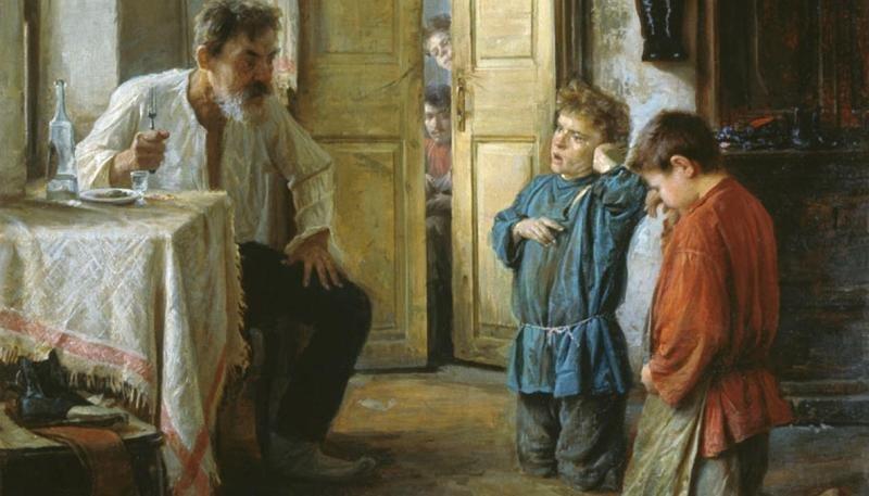 Михаил Ватутин — «Воспитатель» (1892 год) интересное, искусство, картины