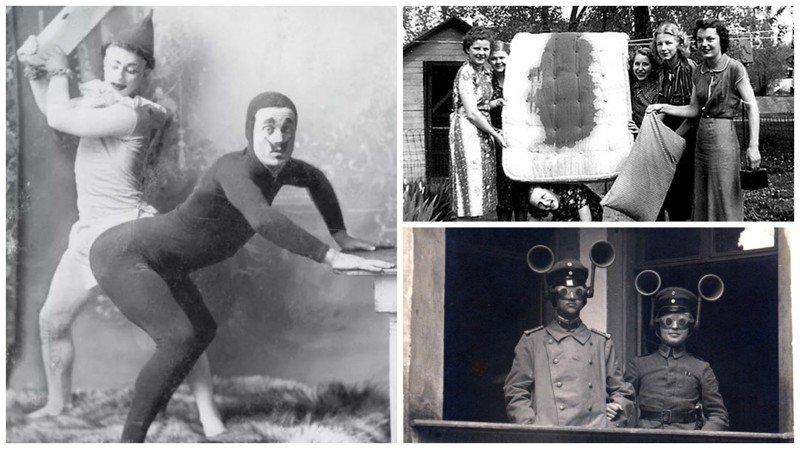 современные люди на старинных фотографиях вид конечно этих