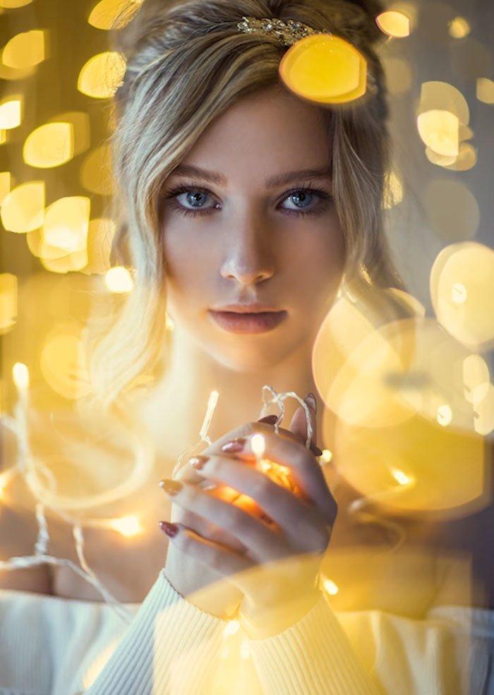 источники света фотопортрет в зеркале собой