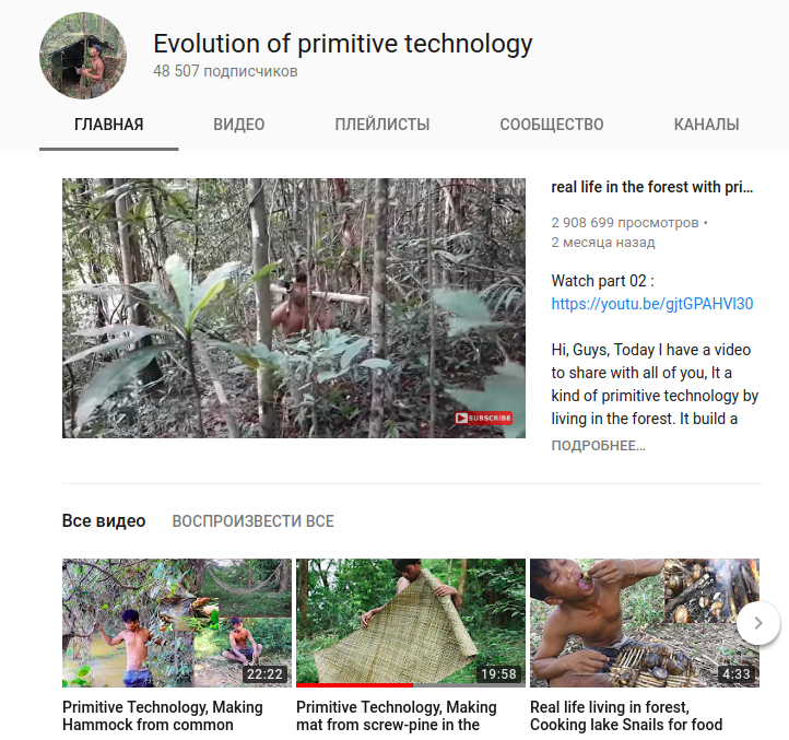 Evolution of primitive technology