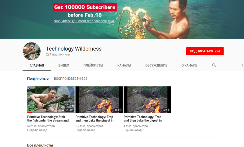 Свежий канал Technology Wilderness primitive technology, выживание, выживание в дикой природе, каменный век, примитивные технологии, простейшие навыки, технологии каменного века
