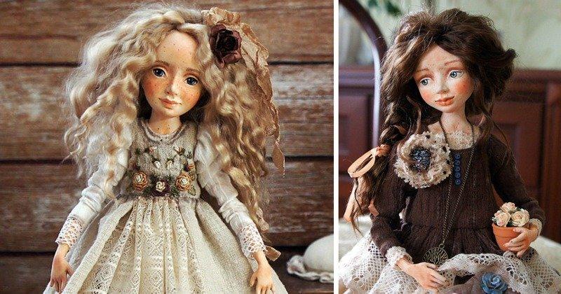 Бухгалтер создаёт уникальных винтажных кукол винтажный, куклы, самоделки, своими руками, сделай сам, хендмейд