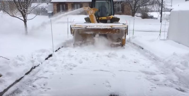 Как в Канаде чистят снег легко и быстро видео, дорога, дорожные службы, интересное, канада, снег, уборка