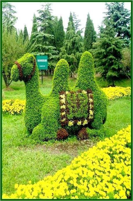 Всякая живность и прочие фигуры Фабрика идей, искусство, красота, кустарник, сад, топиар, удивительно, фигуры