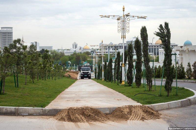 Хорошее решение Ашхабад, пыль в глаза, туркменистан