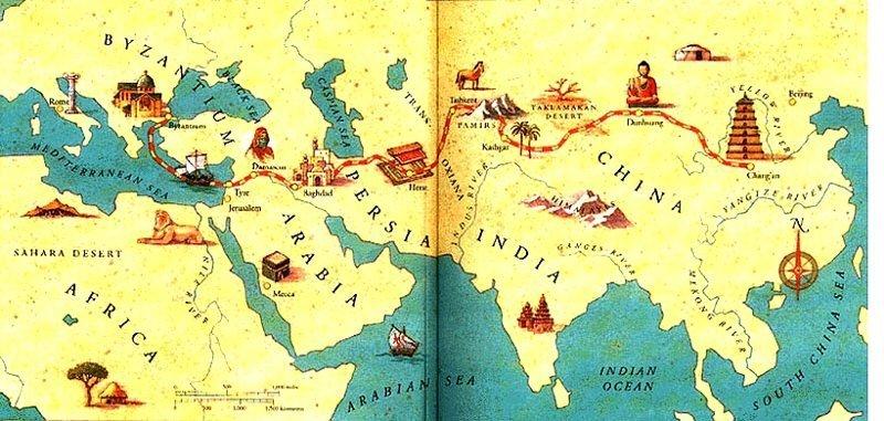 Великий шёлковый путь: почему в колодцах посреди пустыни всегда была вода Древние технологии, история, факты