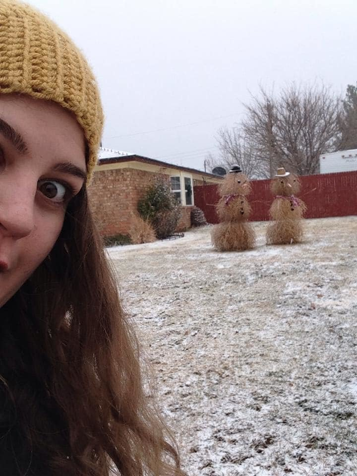 Техасские снеговики - это уже отдельная история зима, креатив, новый год, снег, снеговик, творчество, фото, юмор