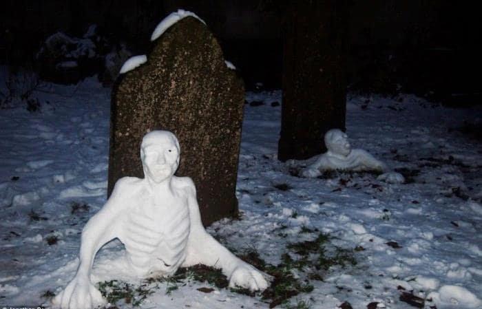 20 креативных снеговиков, которых невозможно развидеть зима, креатив, новый год, снег, снеговик, творчество, фото, юмор