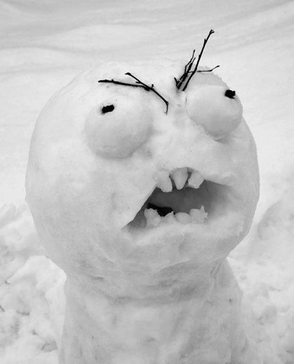 С наступающим! зима, креатив, новый год, снег, снеговик, творчество, фото, юмор