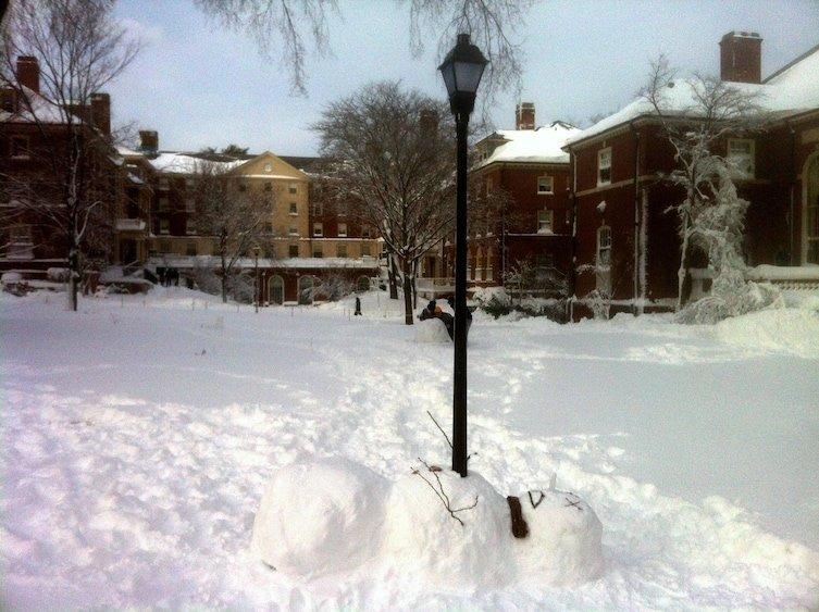 Он просто не рад снегу зима, креатив, новый год, снег, снеговик, творчество, фото, юмор