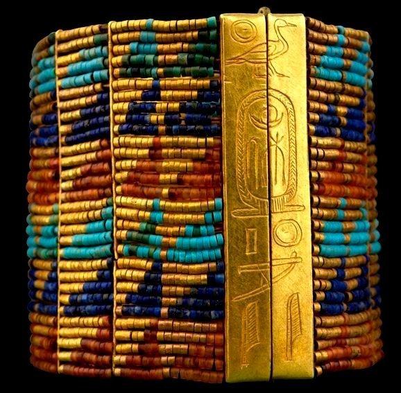 Браслет. Золото, лазурит, сердолик, бирюза древний египет, искусство, красота, невероятное, удивительное, ювелирное