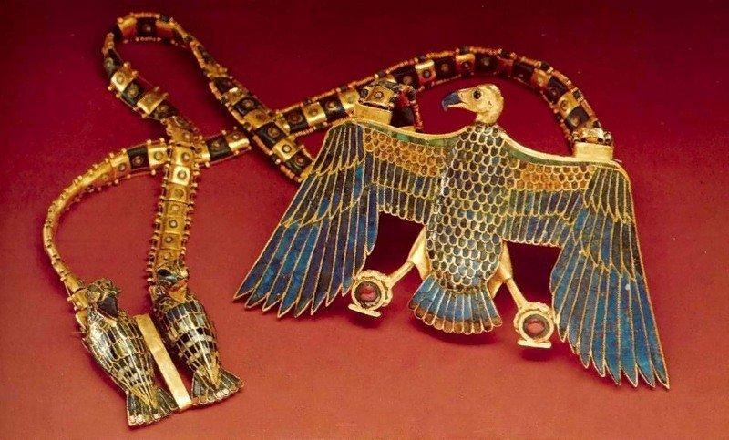 Подвеска царевны Сат-Хатхор-Иунит Около 1870 до н. древний египет, искусство, красота, невероятное, удивительное, ювелирное