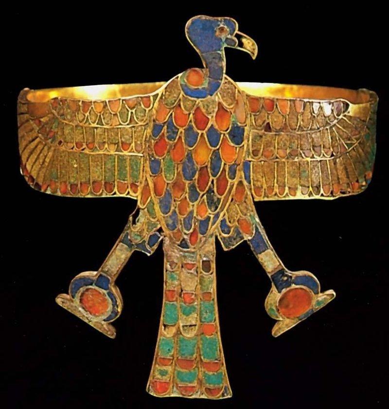 Диадема царевны Сат-Хатхор-Иунит Около 1800 до н. э. (правление Аменемхета III) Золото, лазурит, сердолик, зеленый фаянс древний египет, искусство, красота, невероятное, удивительное, ювелирное