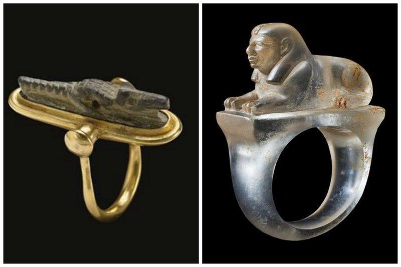 Кольца - с крокодилом и сфинском древний египет, искусство, красота, невероятное, удивительное, ювелирное