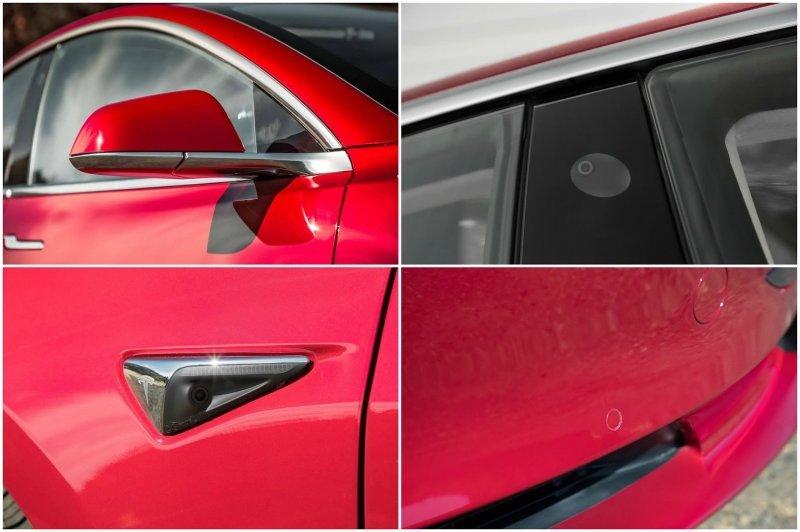 Уже в базовой комплектации Model 3 имеет все необходимые датчики и оборудование для полноценного автопилота. Полноценная система автономного вождения появится чуть позже за доплату в $8 000. Для этого будет достаточно просто обновить софт. Model 3, Tesla model 3, tesla, авто, автомобили, тест-драйв, электрокар, электромобиль