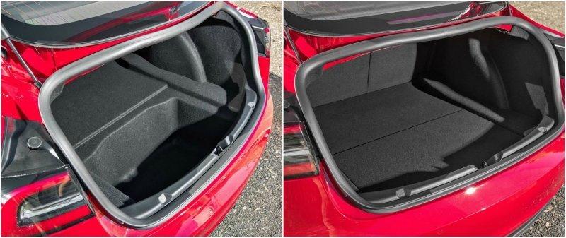 Батарея расположена в задней части, что сказалось на размере багажного отделения Model 3, Tesla model 3, tesla, авто, автомобили, тест-драйв, электрокар, электромобиль